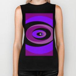 An Abstract Circular Art Design in Purples Biker Tank