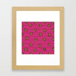 zuhur pink Framed Art Print