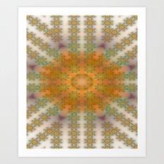 Sun and Flower Art Print