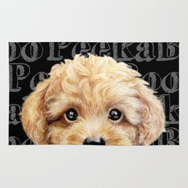 Peek A Boo-Toy poodle-Beige yellow tone Rug
