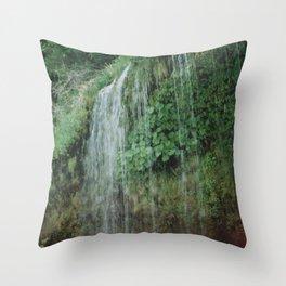 Secret Waterfall II Throw Pillow