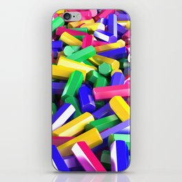 Pile of colorful hexagon details iPhone Skin