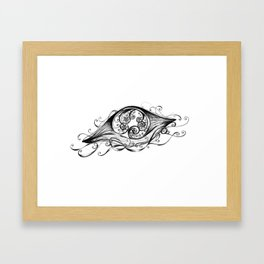 Floating Jellyfish Framed Art Print