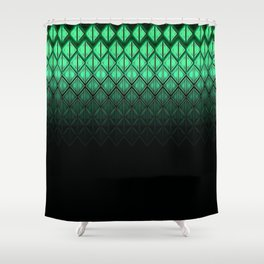 Future Scales Green Shower Curtain