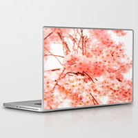 cherry blossoms Laptop & iPad Skins featuring Cherry Blossoms by 2sweet4words Designs