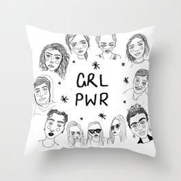 GRLPWR Throw Pillow