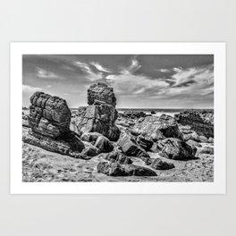 Big Rocks at Praia Malhada Jericoacoara Brazil Art Print