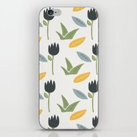 floral pattern iPhone & iPod Skins featuring Floral Pattern by Mark Conlan