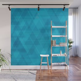 Gentle light blue triangles in the intersection and overlay. Wall Mural