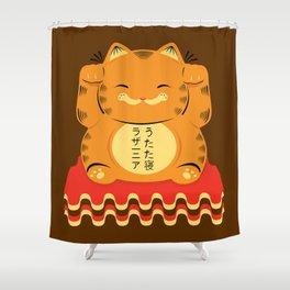 Lucky Garfield Shower Curtain