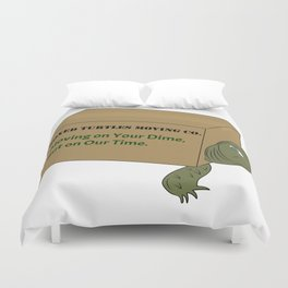 Boxed Turtles Moving Co. Duvet Cover