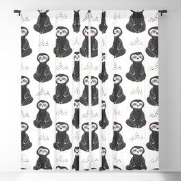 Meditating Sloths Blackout Curtain