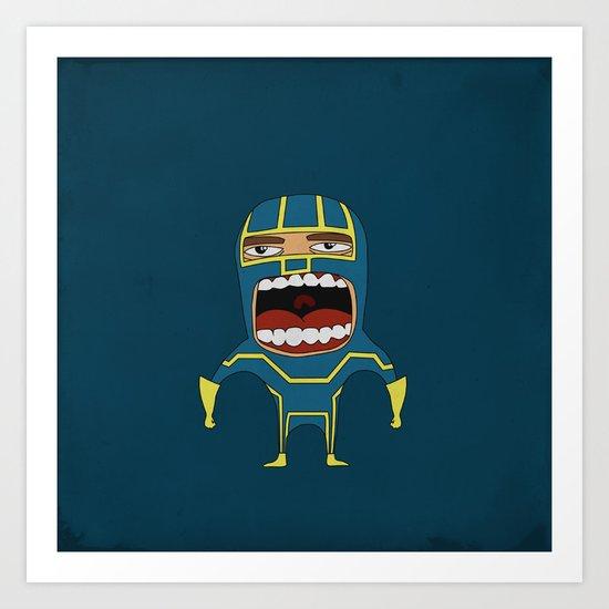 Screaming Kick-Ass Art Print