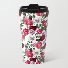 Fashion Floral Pattern Metal Travel Mug