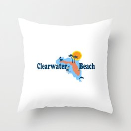 Clearwater Florida. Throw Pillow
