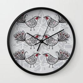 lyrebirds Wall Clock