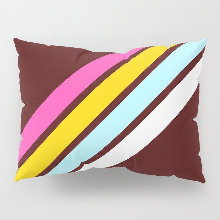 80's Style Retro Stripes Pillow Sham