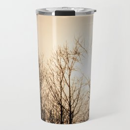 Bird Soaring Over Aspens Travel Mug