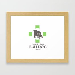 Pacific Northewest Bulldog Rescue Framed Art Print