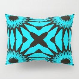 blue & Black Pinwheel Flowers Pillow Sham