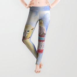 Camel Watercolor  Leggings