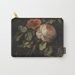 Botanical Rose And Snail Carry-All Pouch