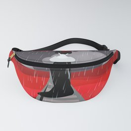 Japanese in red field Fanny Pack