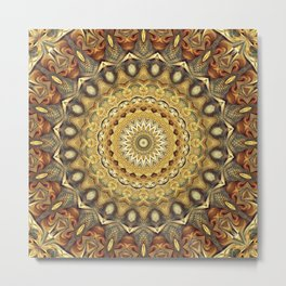 Flower Of Life Mandala (Nature's Enthusiasm) Metal Print