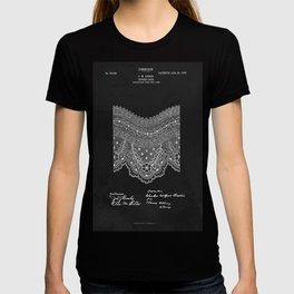 Antique Patent for Lace Textiles T-shirt