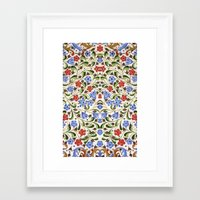 medieval Framed Art Prints featuring Medieval Floral by Diana Kryski