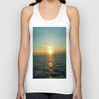 fishing Tank Tops featuring FISHING by aztosaha