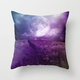 Fields Of Moonlight  Throw Pillow