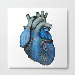 Blue Heart Metal Print