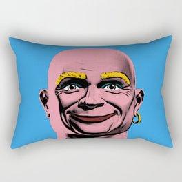 Mr Clean Pop Art on Blue Background Rectangular Pillow