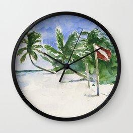 Beach, Tulum, Mexico Wall Clock