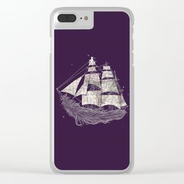 Wherever the wind blows Clear iPhone Case