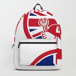 British Engineer Union Jack Flag Icon Backpack