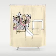 La geometría de las flores II Shower Curtain