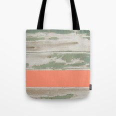 Wood Color Block Tote Bag
