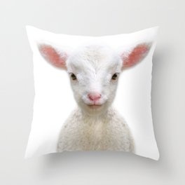 Baby Sheep Throw Pillow