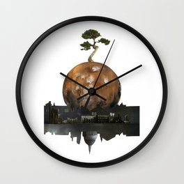 One Tree Left Wall Clock