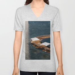 Embraced by the Blue Sea - Mexico Wanderlust  Unisex V-Neck