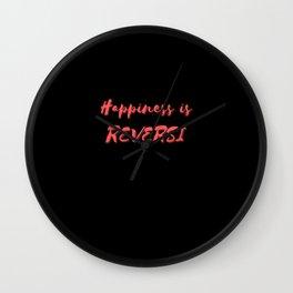 Happiness is Reversi Wall Clock