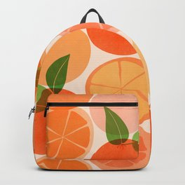 Sunny Oranges / Tropical Fruit Illustration Backpack