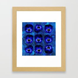 Deep Blue Velvet Framed Art Print
