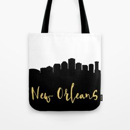 NEW ORLEANS LOUISIANA DESIGNER SILHOUETTE SKYLINE ART Tote Bag
