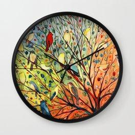 27 Birds Wall Clock