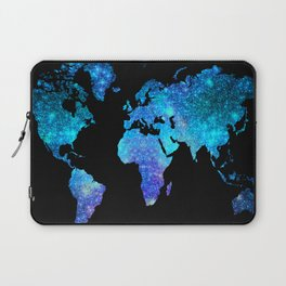 Space World map Laptop Sleeve