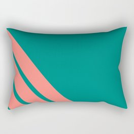 Three stripes coral Rectangular Pillow