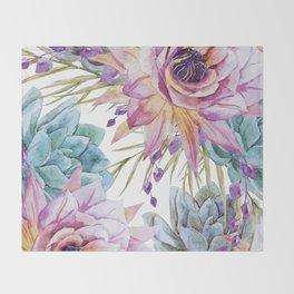 FLOWERS WATERCOLOR 19 Throw Blanket